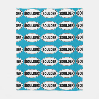 Boulder Colorado Fleece Blanket