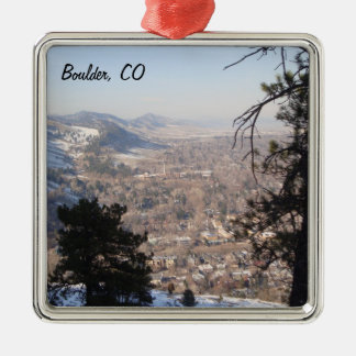 Boulder, Colorado from Above Metal Ornament