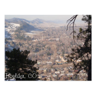Boulder, Colorado from Above Postcard