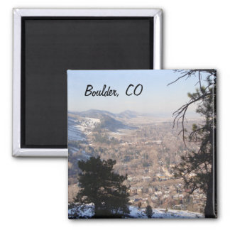Boulder, Colorado from Above Square Magnet