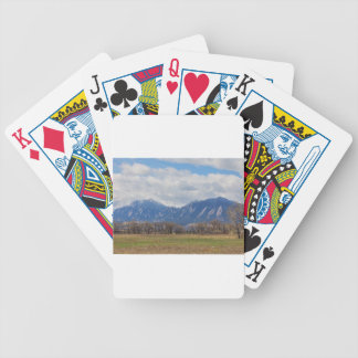 Boulder Colorado Prairie Dog View Bicycle Playing Cards