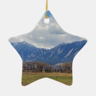Boulder Colorado Prairie Dog View Ceramic Ornament
