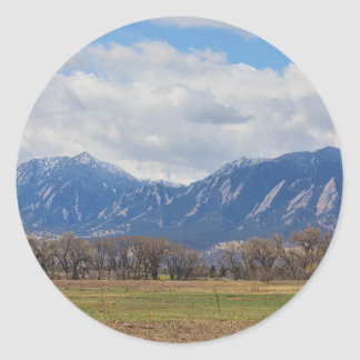 Boulder Colorado Prairie Dog View Classic Round Sticker