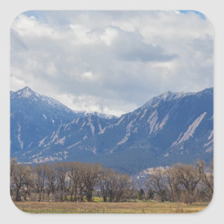 Boulder Colorado Prairie Dog View Square Sticker