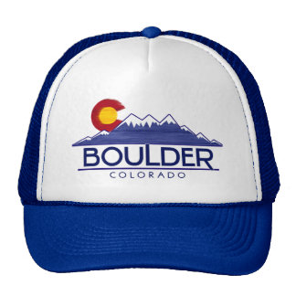 Boulder Colorado wood mountains hat