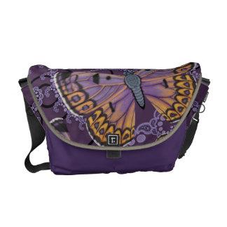 Boulder Copper Butterfly Fractal Courier Bag