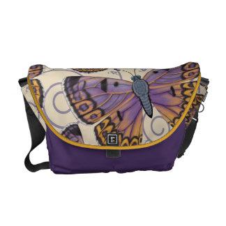 Boulder Copper Butterfly Swirl Messenger Bag