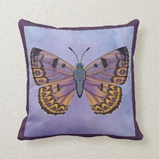 Boulder Copper Butterfly Throw Pillow