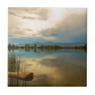 Boulder County Colorado Calm Before The Storm Ceramic Tile
