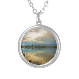 Boulder County Colorado Calm Before The Storm Silver Plated Necklace