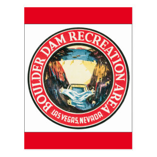 Boulder Dam Recreation Area Vintage Travel Poster Postcard