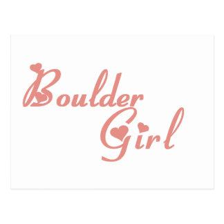 Boulder Girl tee shirts Postcard