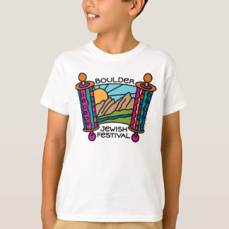 Boulder Jewish Festival Classic logo Kid's Tee