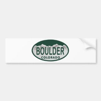 Boulder license oval bumper sticker