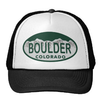 Boulder license oval cap