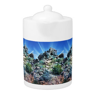 Boulder Rock Photo Art Tea Pot