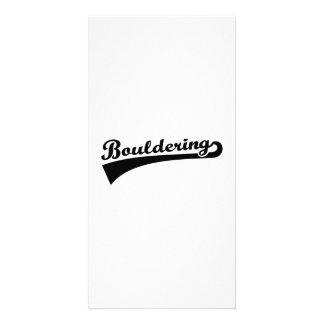 Bouldering Custom Photo Card