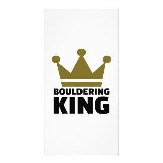 Bouldering king personalised photo card