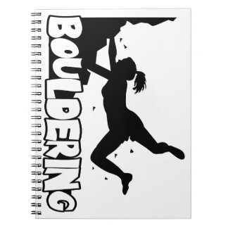 Bouldering_print women notebook
