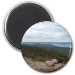 Boulders On Cadillac Mountain 6 Cm Round Magnet