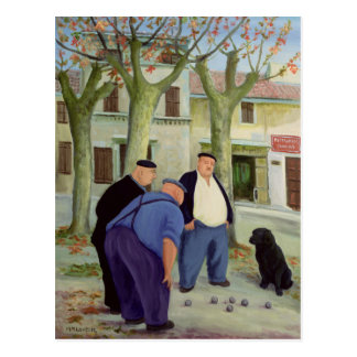 Boules Players Postcard