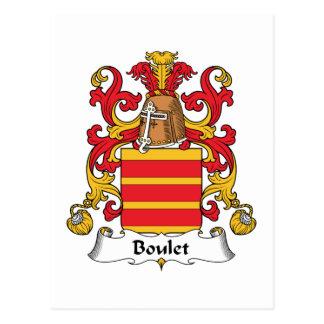 Boulet Family Crest Postcard
