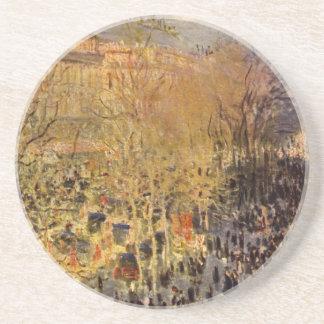 Boulevard des Capucines by Claude Monet, Fine Art Beverage Coasters