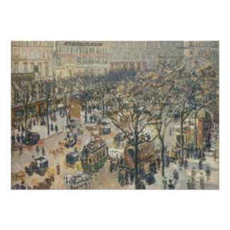 Boulevard des Italiens, Morning, Sunlight, 1897 Poster
