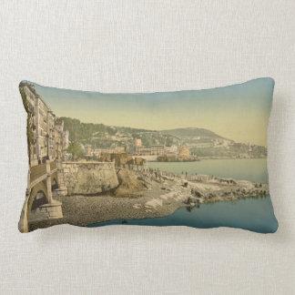 Boulevard du midi, Nice, French Riviera Lumbar Cushion