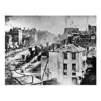 Boulevard du Temple Paris France 1838 Postcard
