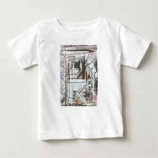 Boulevard-Hand Painted Abstract Brushstrokes Baby T-Shirt