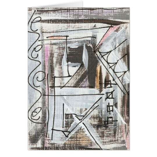 Boulevard-Hand Painted Abstract Brushstrokes Card