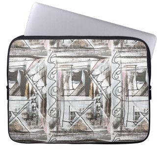 Boulevard-Hand Painted Abstract Brushstrokes Laptop Computer Sleeves