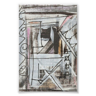 Boulevard-Hand Painted Abstract Brushstrokes Poster