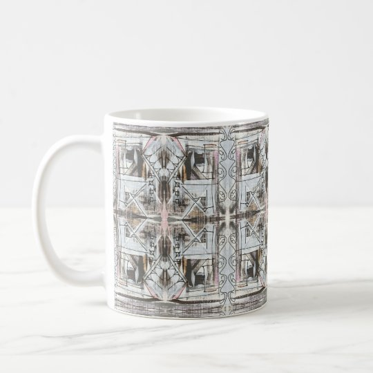 Boulevard-Hand Painted Abstract Geometric Coffee Mug