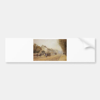 Boulevard Heloise, Argenteuil by Alfred Sisley Bumper Sticker