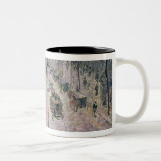 Boulevard Montmartre, 1897 (oil on canvas) Two-Tone Coffee Mug