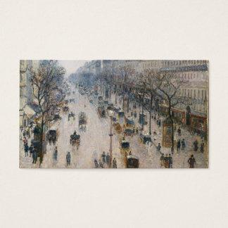 Boulevard Montmartre - Paris - Camille Pissarro Business Card