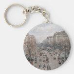 Boulevard Montmartre - Paris - Camille Pissarro Keychains