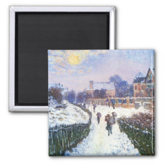 Boulevard Saint Denis Argenteuil by Claude Monet Square Magnet