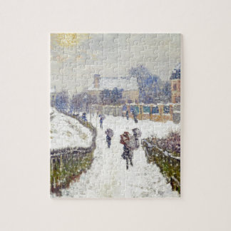Boulevard Saint-Denis, Argenteuil, in Winter Jigsaw Puzzle