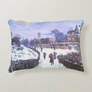 Boulvard Saint Denis by Claude Monet Decorative Cushion