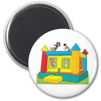 Bounce Castle Kids 6 Cm Round Magnet