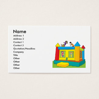 Bounce Castle Kids Business Card