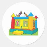Bounce Castle Kids Round Sticker