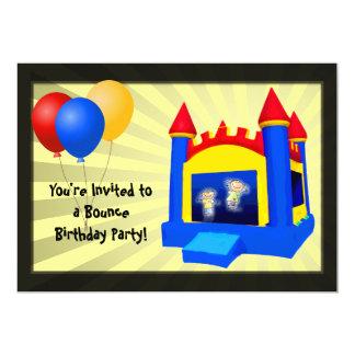 Bounce House Balloons Birthday Party Invitation