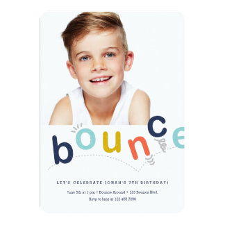 Bounce house birthday party invitation