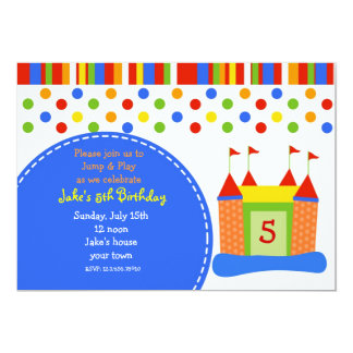 Bounce House Castle Birthday Party Invitations