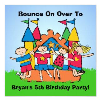 Bounce House Custom Birthday Invites
