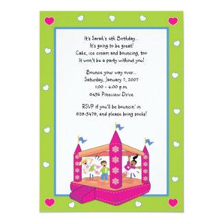 Bounce House Invitations: Hearts Card